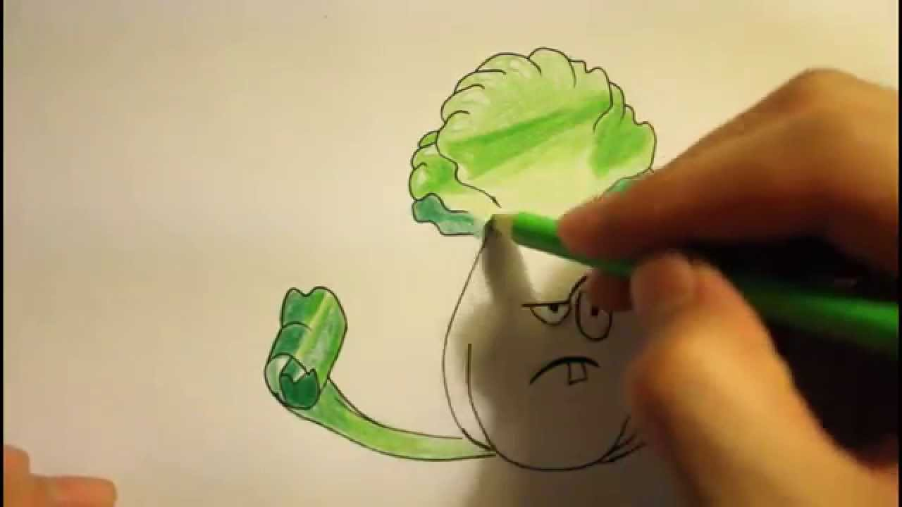 1280x720 How To Draw Plants Vs Zombies 2 Bonk Choyall Plantscharacters