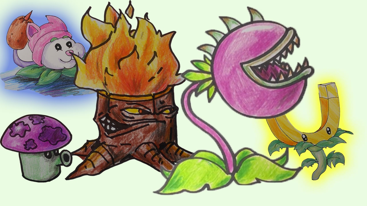 1280x720 How To Draw Plants Vs Zombies Characters My Collection [59 Min