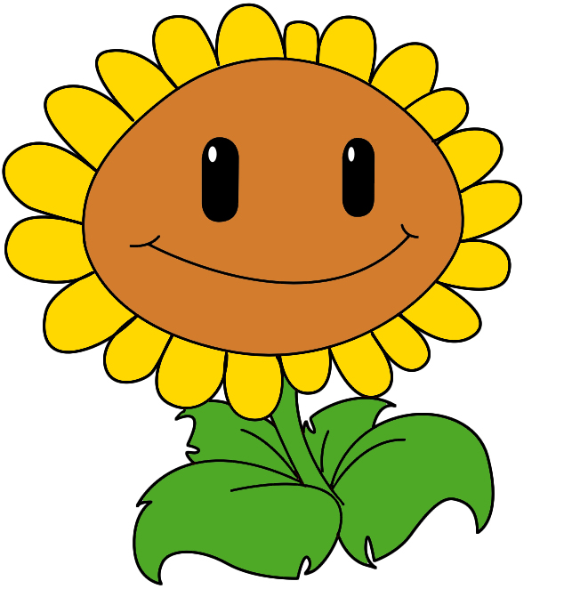 634x662 How To Draw The Sunflower From Plants Vs Zombies Plants Vs