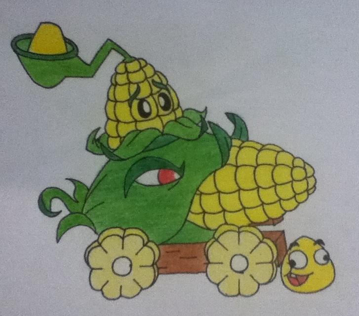 727x641 Plants Vs Zombies Corn By Angrywhitebird