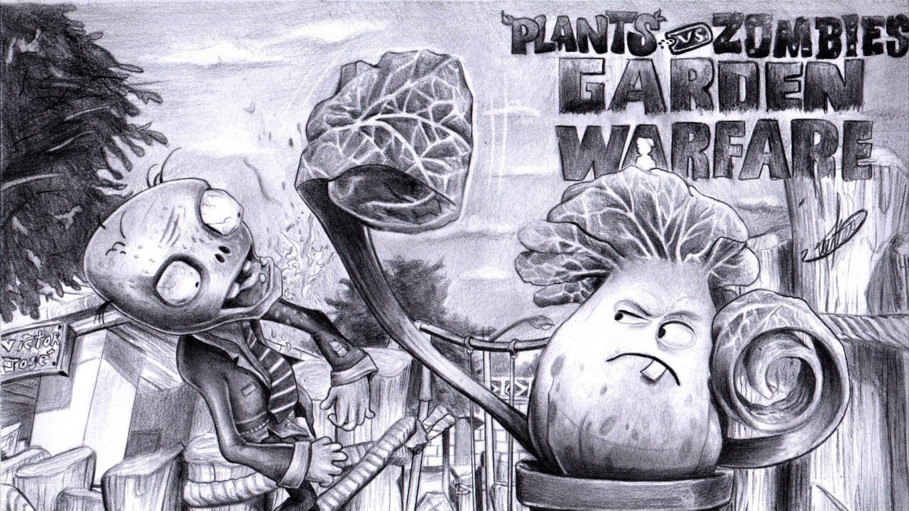 Coloring Pages For Plants Vs Zombies : Plants vs zombies drawing all plants at getdrawings free for