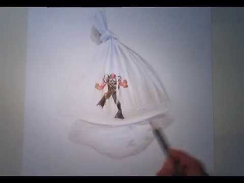 480x360 How To Draw A Diver In A Plastic Bag