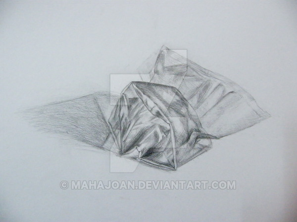 600x450 Plastic Bag Drawing By Mahajoan