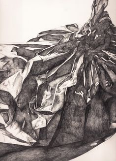 236x327 Pencil Line Drawing Of A Plastic Bag