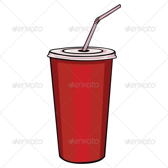 590x590 Red Plastic Cup With Lid And Straw Plastic Cups, Icon