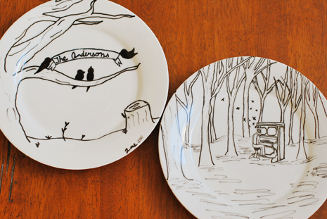 465x311 Pretty Ditty Porcelain Plate Drawing Tutorial