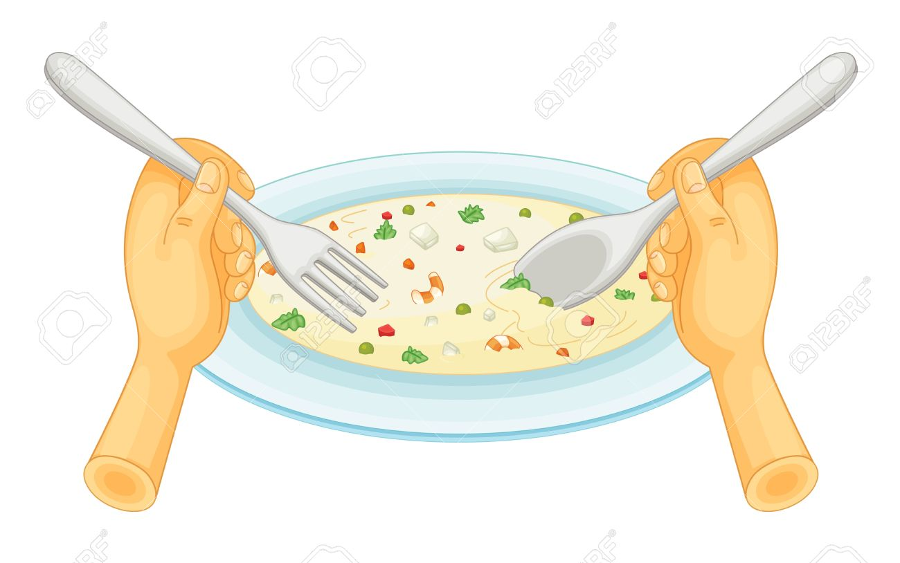 1300x814 Illustration Of Eating A Plate Of Food Royalty Free Cliparts