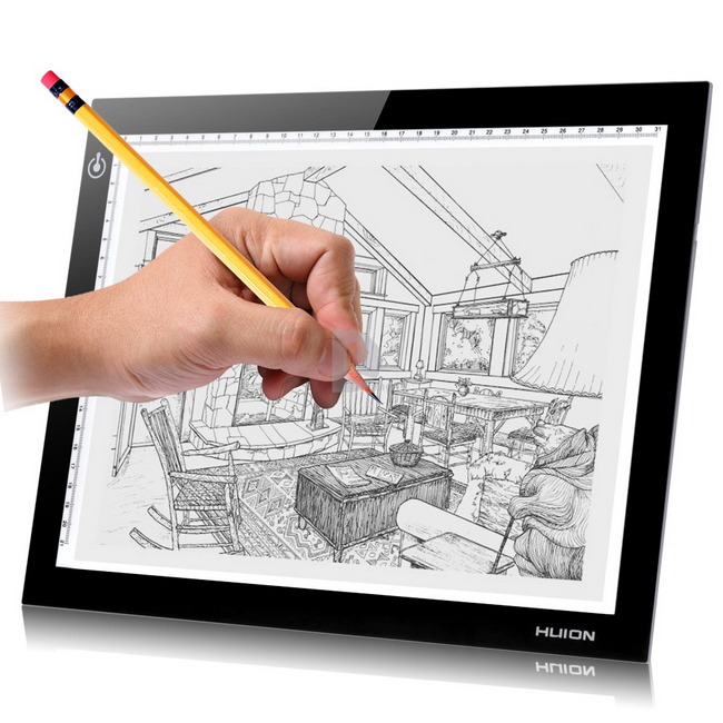 650x650 Huion L4s A4 Led Light Tables Led Drawing Light Pad Tracing
