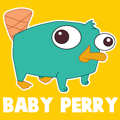 400x400 How To Draw Baby Perry The Platypus From Phineas And Ferb