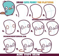 236x221 How To Draw Cute Kawaii Chibi Perry The Platypus From Phineas