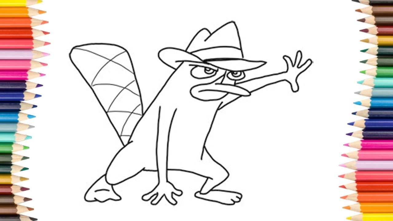 1280x720 How To Draw Perry The Platypus (Agent P) From Phineas And Ferb