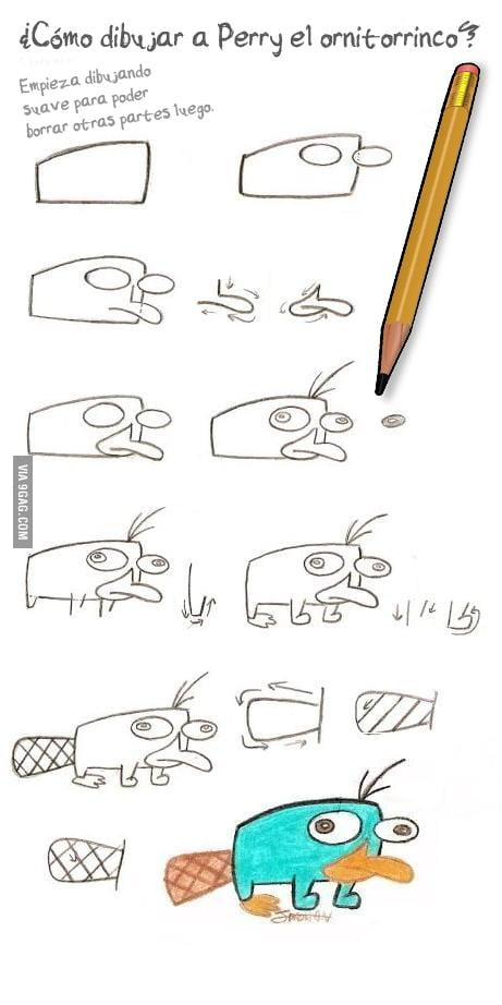 461x922 How To Draw Perry The Platypus.