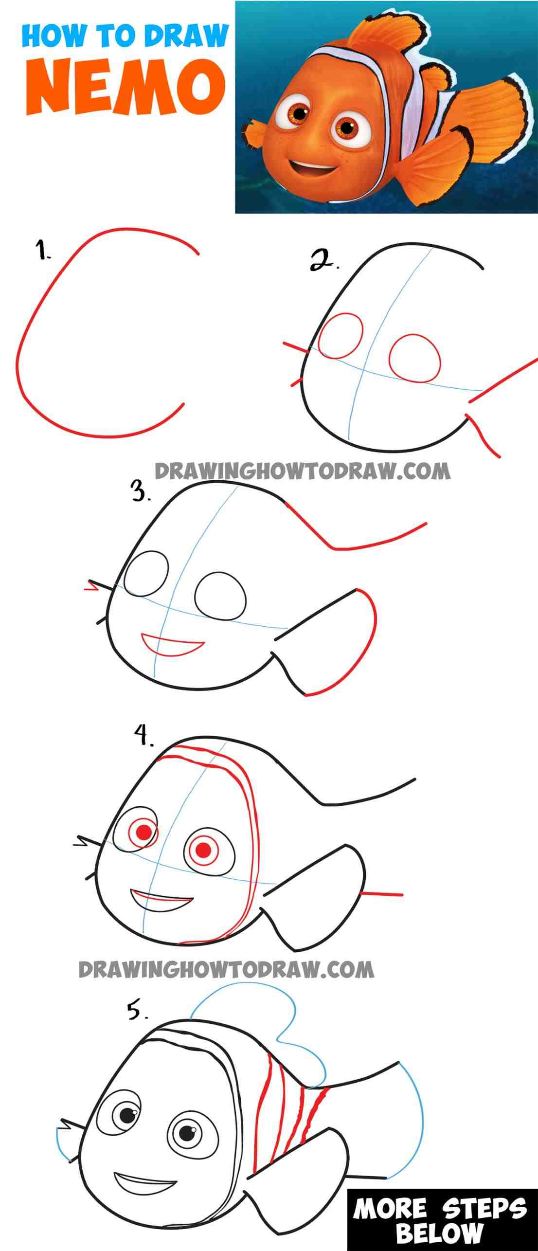 1106x2571 The Images Collection Of Easy Drawing Tutorials Disney To Draw