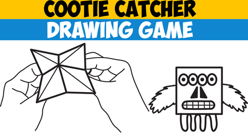 500x284 How To Play The Cootie Catcher Drawing Game
