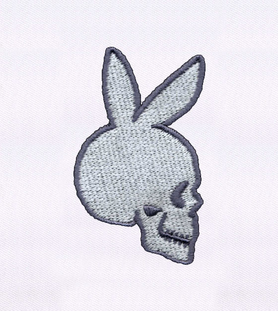 560x625 Playboy Bunny Inspired Skull Embroidery Design Embmall