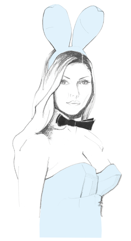 418x768 Playboy Bunny Debbie Harry Illustration Playboy Stuff