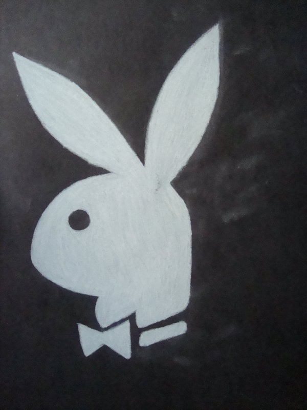 600x800 Playboy Bunny In White By Sandra Loves Drawing