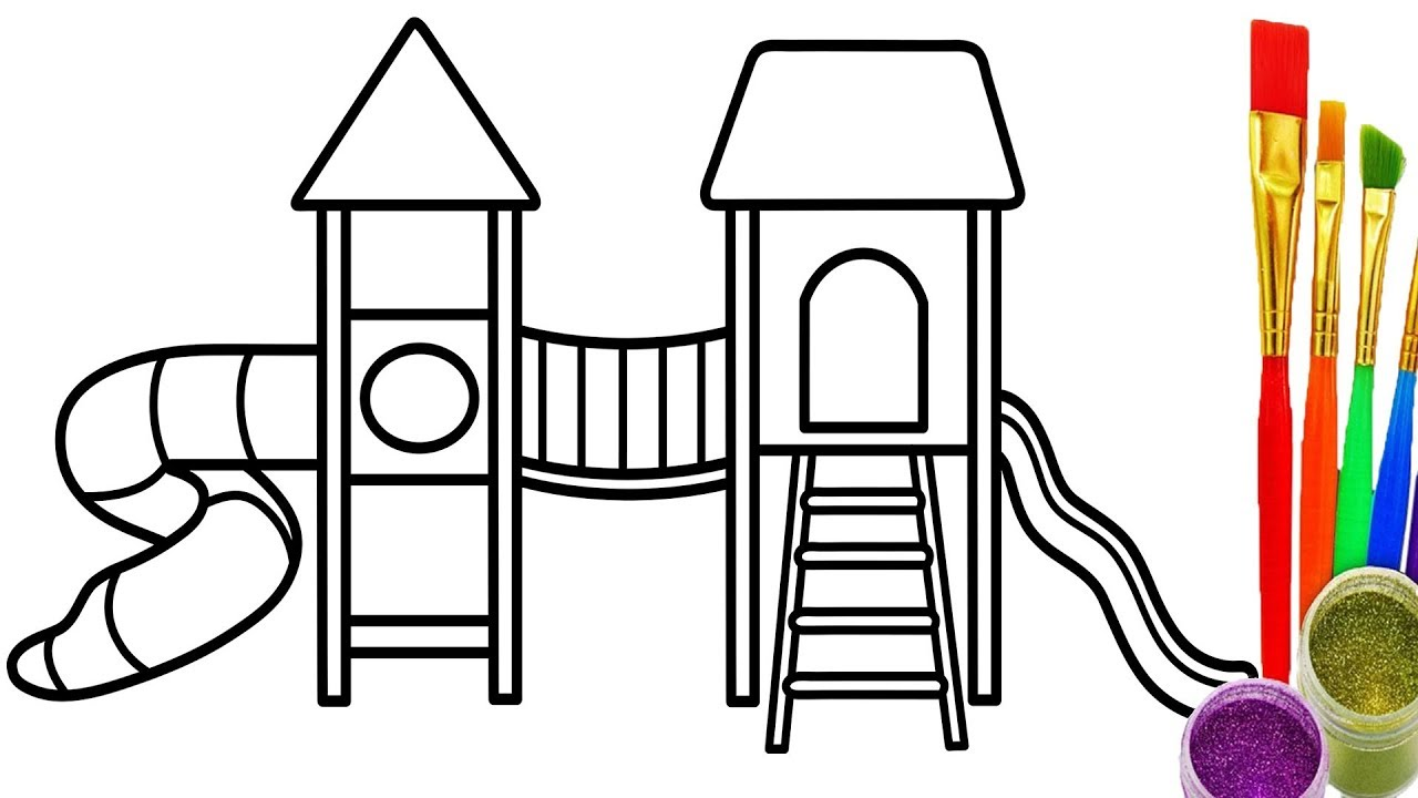 1280x720 Drawing Playground Kids How To Draw And Coloring Pages