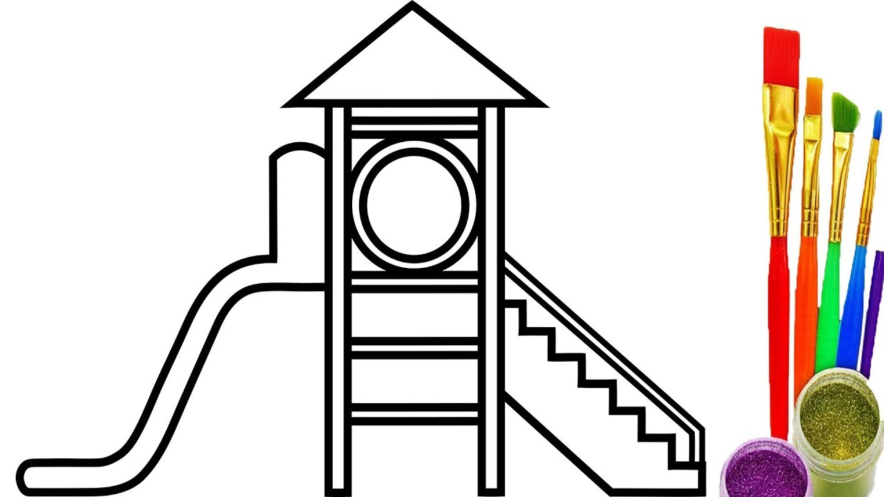 1280x720 Playground For Kids Coloring Pages How To Draw Videos For Kids