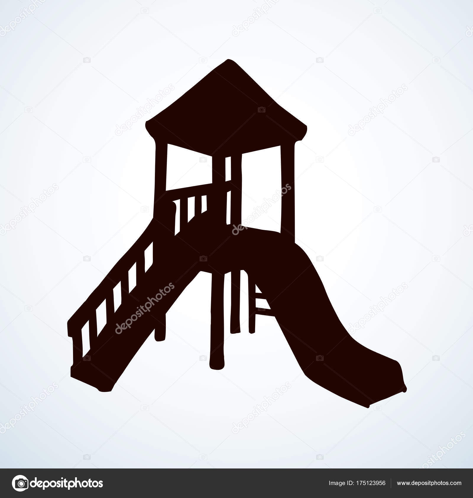 1600x1686 Playground. Vector Drawing Stock Vector Marinka