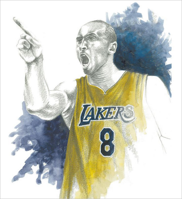 585x639 Fantastic Basketball Drawings To Download! Free Amp Premium