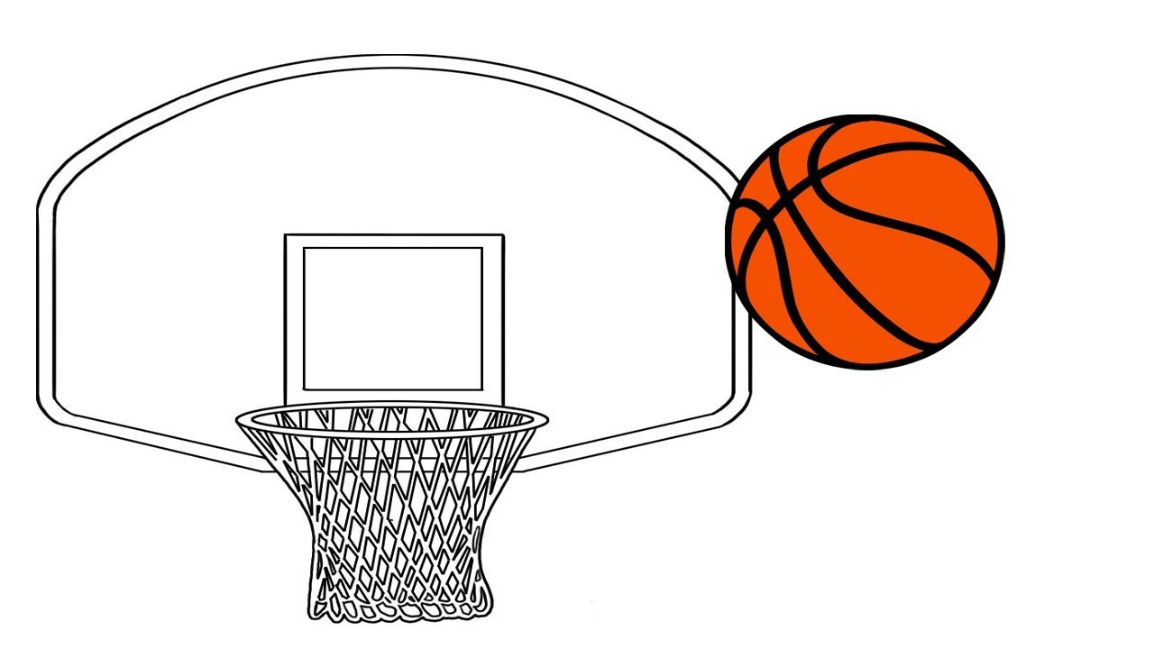 1280x720 Coloring Pages How To Draw A Basketball Draw A Basketball Hoop