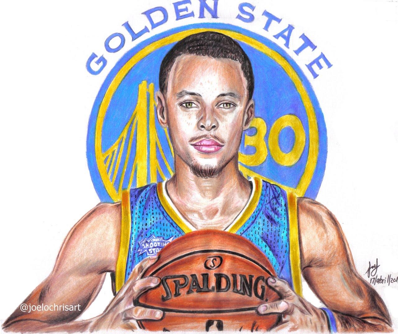 1280x1074 Drawing Stephen Curry Mvp 2015 And 2016 Nba Basketball Player