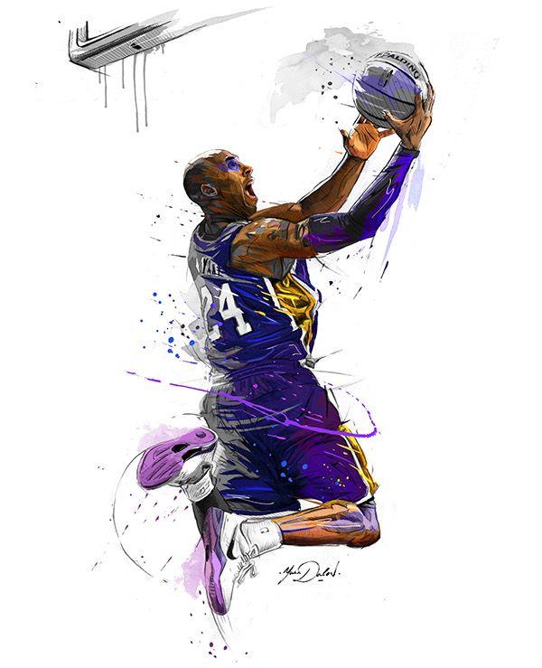 600x739 My Painting Of Kobe Bryant. Laci Kobe Bryant, Kobe