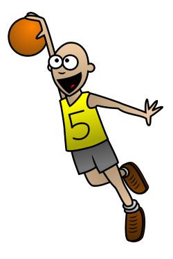250x373 A Cartoon Basketball Player