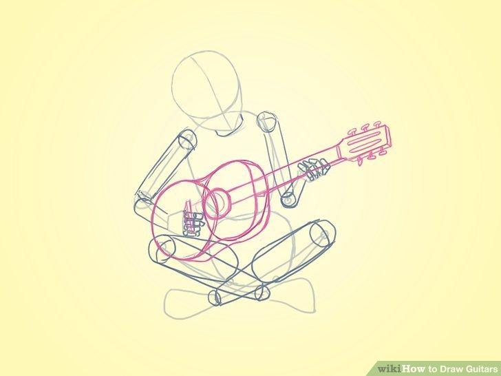 728x546 4 Ways To Draw Guitars