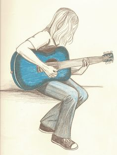 236x314 Acoustic Guitar (Charcoal Drawing)