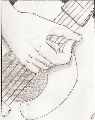 395x500 Guitar Drawing By Vegetariansquishy
