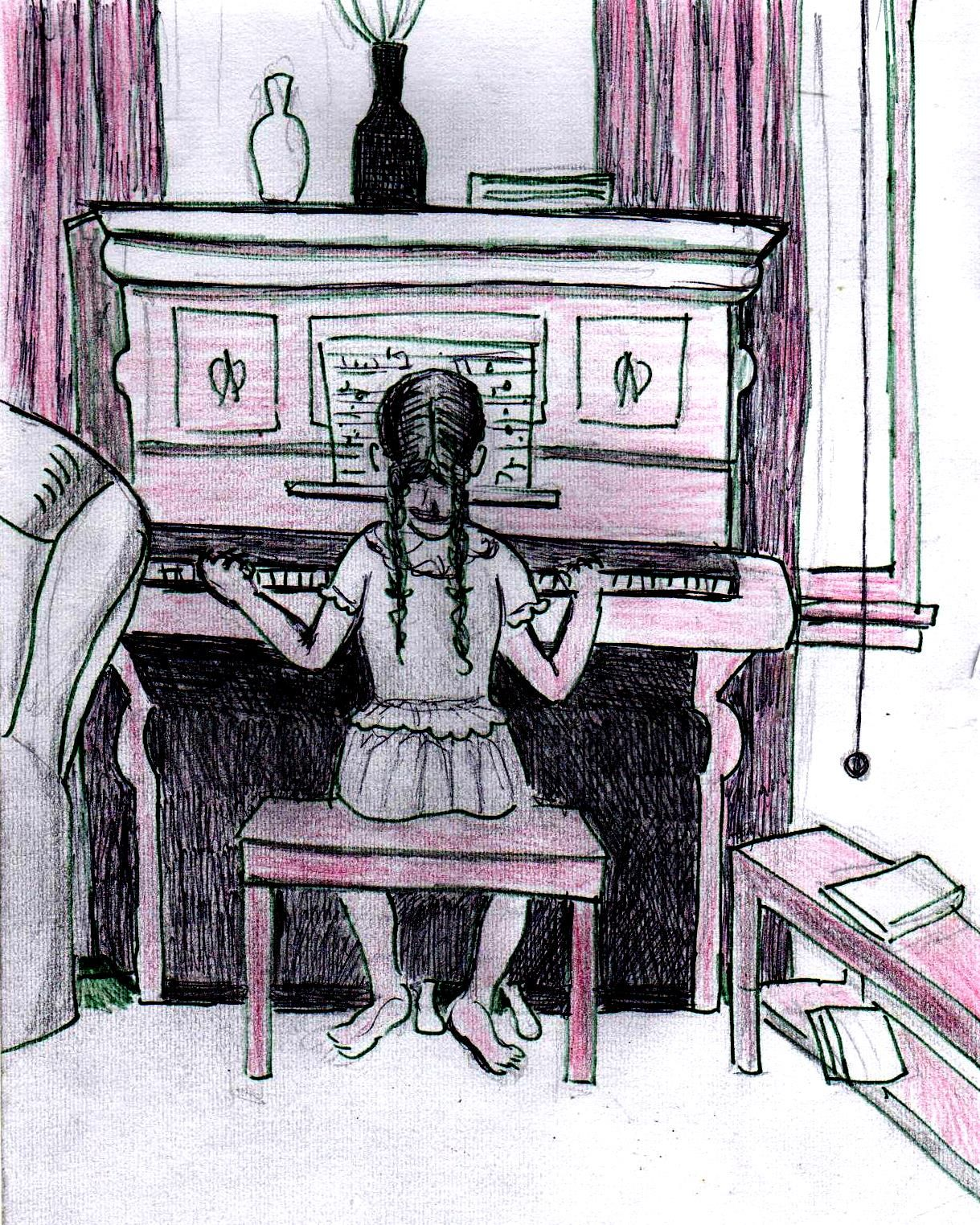 1219x1524 Image Result For Girl Playing Piano Art Piano