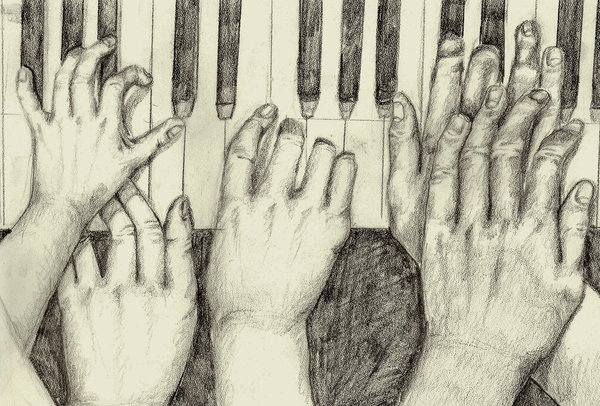 600x406 Piano Hands By On @ Art