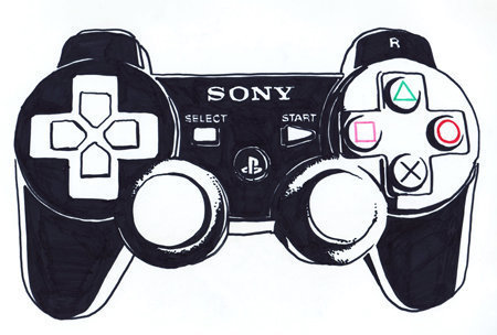 Playstation Controller Drawing At Getdrawings Free Download