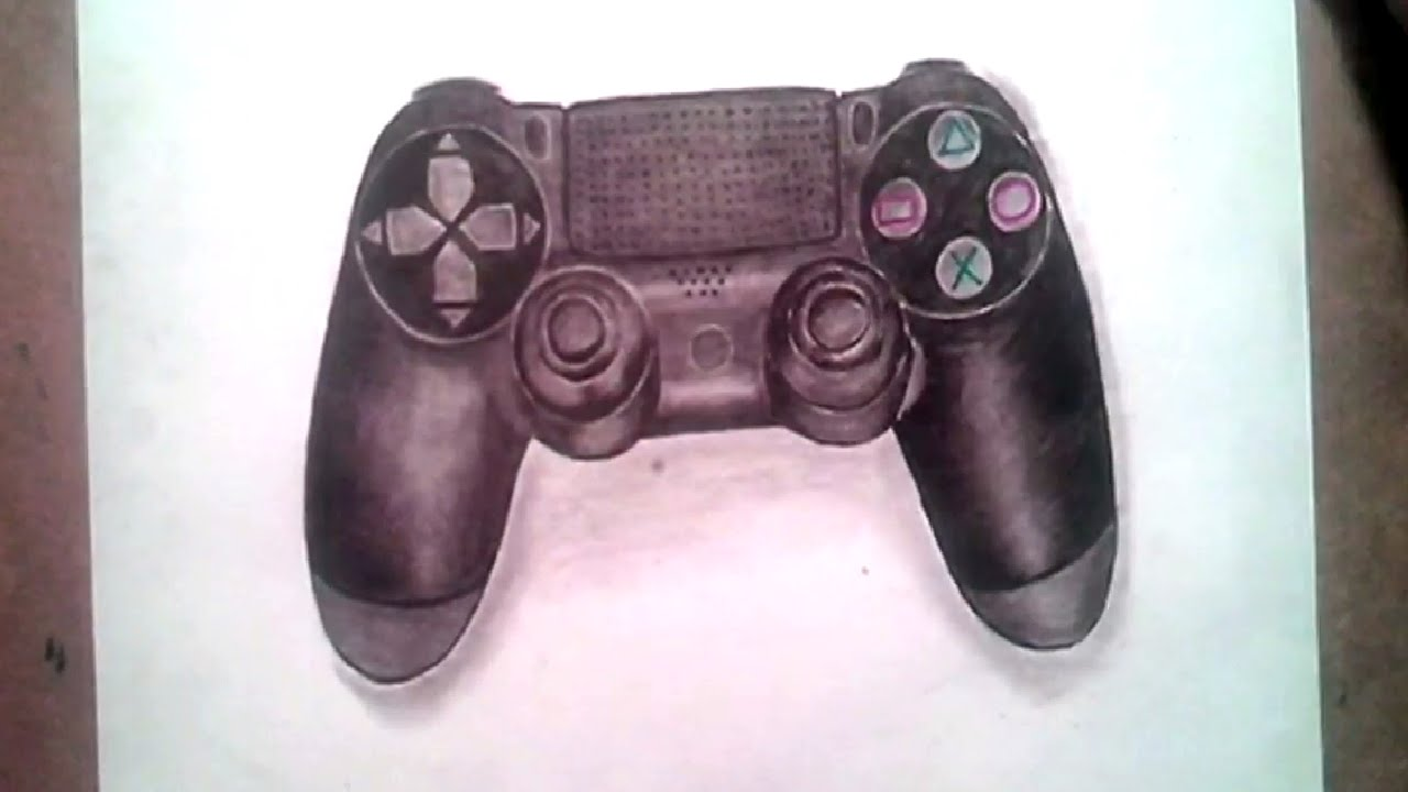 1280x720 Drawing Playstation 4 Controller How To Draw