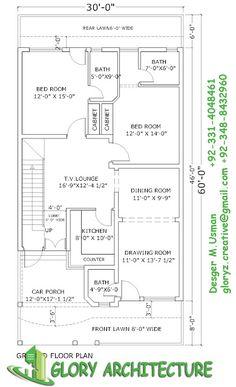 236x387 House Plan Of 30 Feet By 60 Feet Plot 1800 Squre Feet Built Area