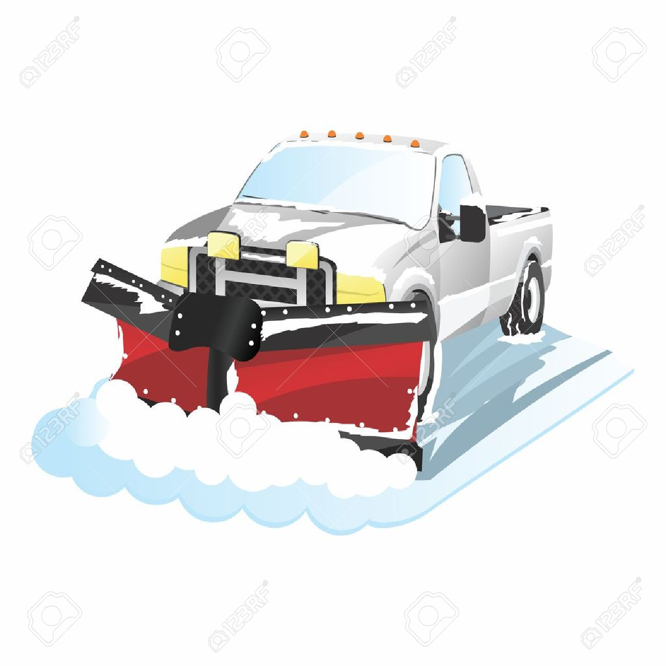 1300x1300 Funny Cartoon Plowing Truck, Snow Removal Royalty Free Cliparts