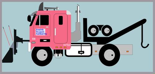 500x241 Tow Truck With Snow Plow Vector Image Public Domain Vectors