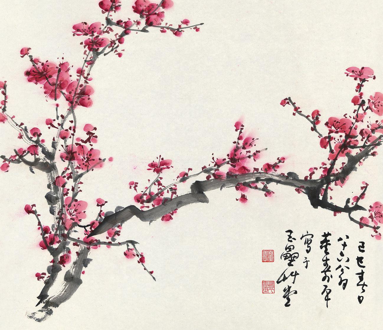 1298x1118 Plum Blossom Artwork Suzhou Gallery Artwork