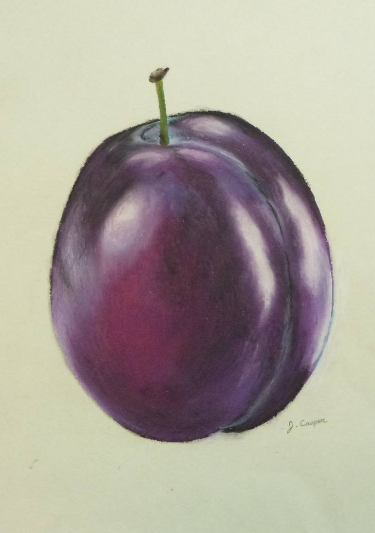 770x1094 Saatchi Art Purple Plum Drawing By Jessica Casper