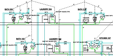 Plumbing drawing at free for personal for Plumbing plans examples
