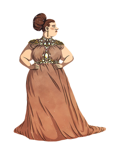 500x647 A While Ago I Doodled Some Plus Size Gown Designs