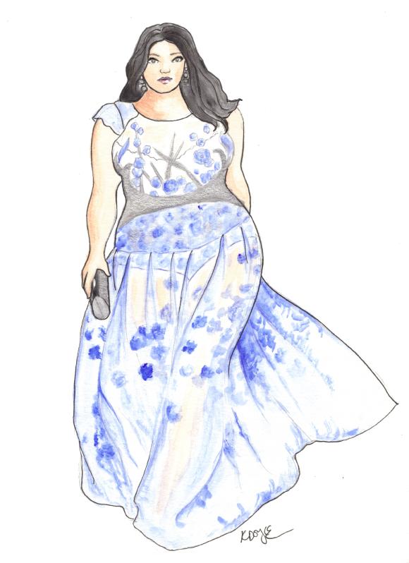 580x798 Curvy Sketches Plus Size Fashion Illustration Beauty Plus