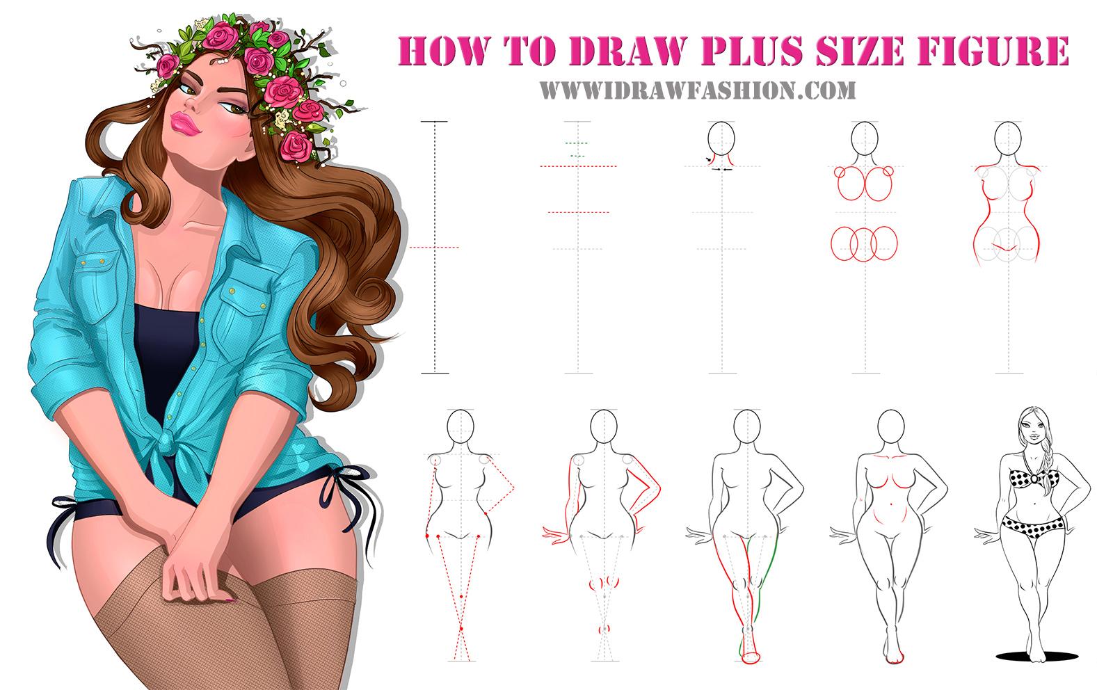 1577x992 How To Draw Plus Size Fashion Sketches Httpwww.idrawfashion