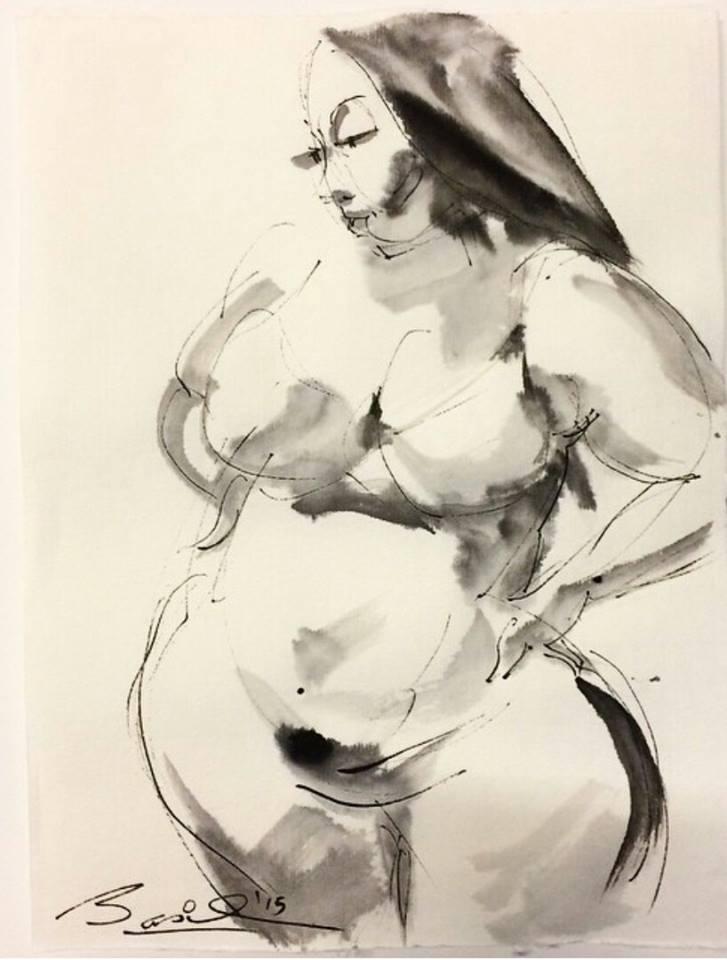 727x960 Plus Size Model Nedra Sketched By Basil Watson The Curvy Fashionista