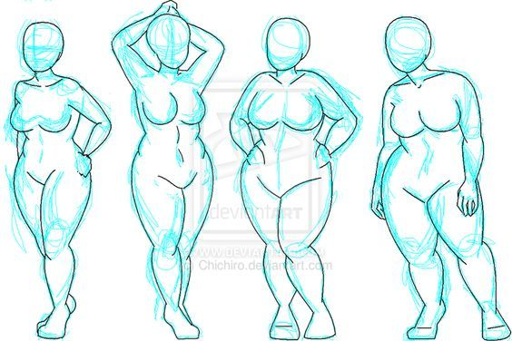 564x376 Plus Size Sketch Figures Easy Sketches Sketches