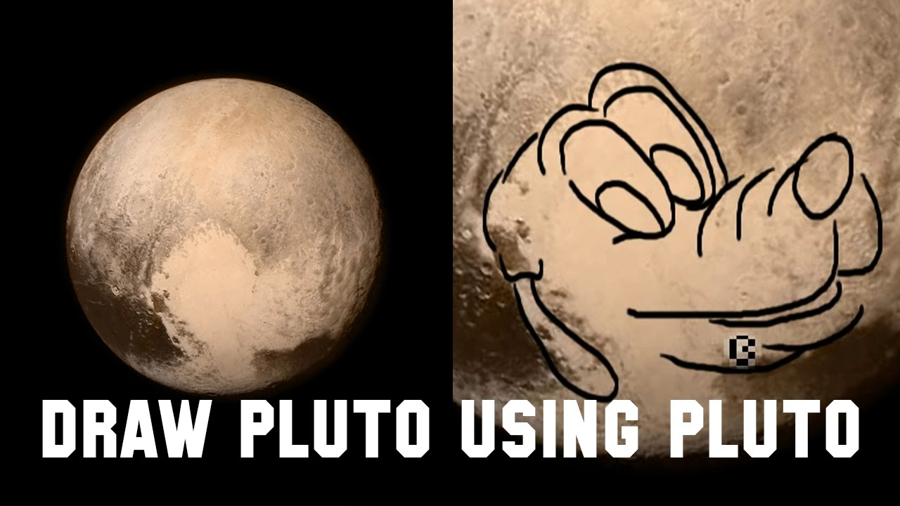 1280x720 How To Draw Pluto The Dog Using Pluto The Planet