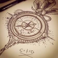 225x225 Pocket Compass Tattoos
