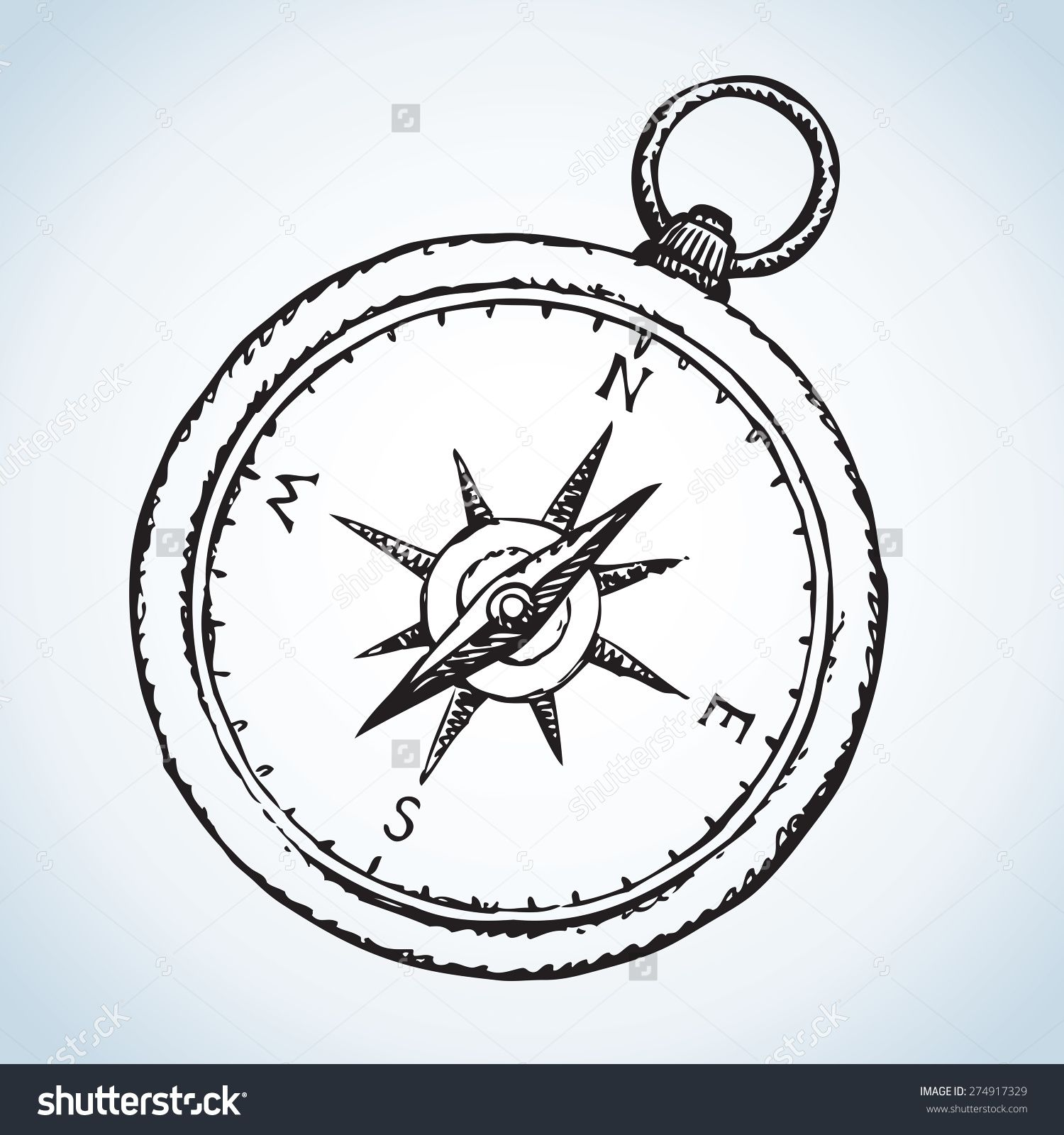 1500x1600 Stock Vector Vintage Romantic Naval Grunge Pocket Compass